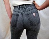 Vintage 80s Guess Black  Colored Jeans
