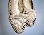 Cute Vintage 80s Famolare Woven Huaraches Sandals - Size 7 1/2