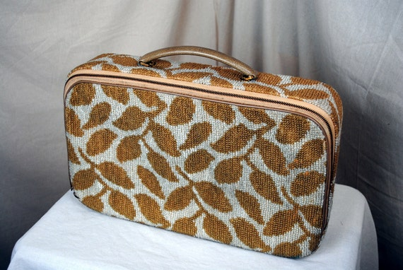 Vintage Leaves Carpet Mini Suitcase Luggage by Celebrity New York