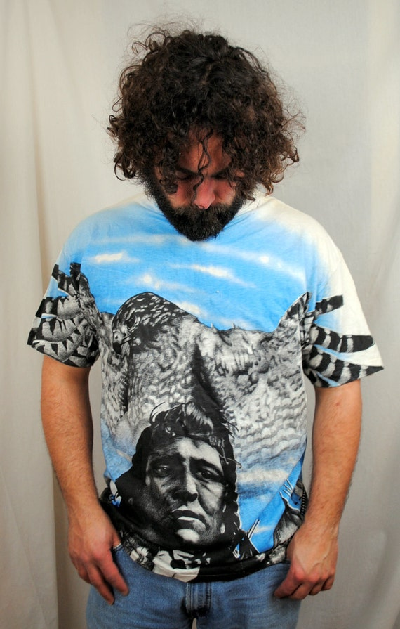 Awesome Vintage Native American Eagle Tee Shirt