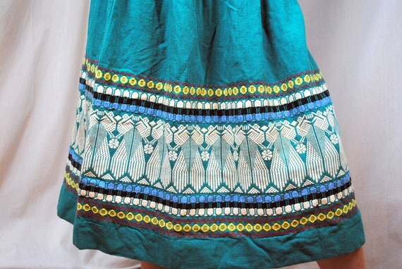 Ethnic Vintage Embroidered Gypsy Skirt