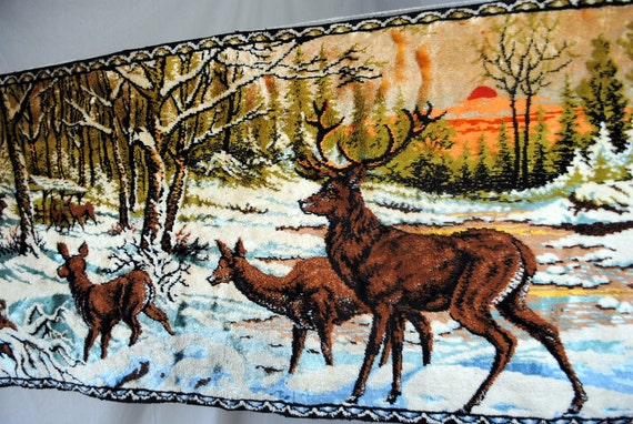 Vintage Deer Nature Rug Wall Hanging Tapestry