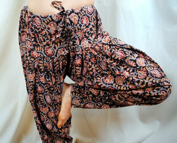 Vintage India Cotton Patterned Harem Pants