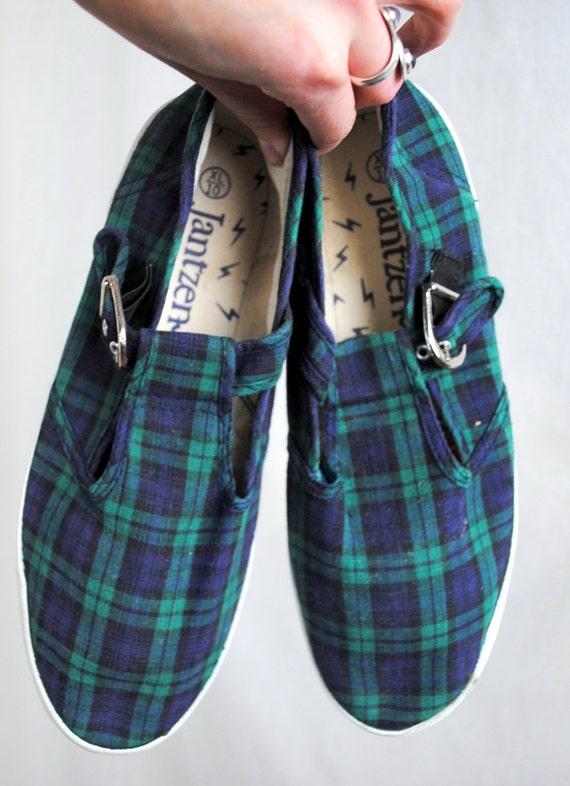 Vintage 80s Jantzen Plaid Shoes - Size 10