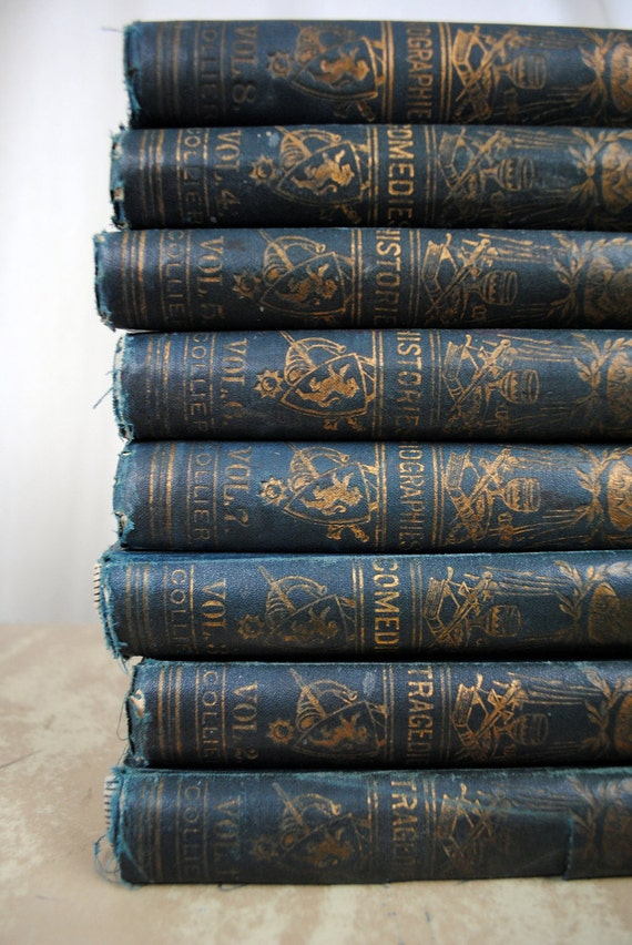 Antique Set of Knight's Shakespeare - 8 Volumes, Illustrated