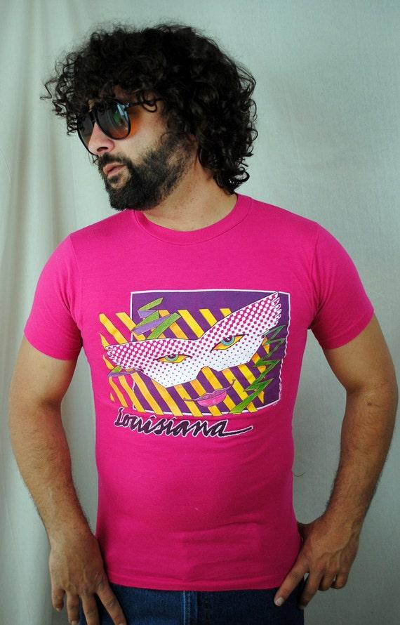 Vintage 1984 Louisiana Pink Tee Shirt