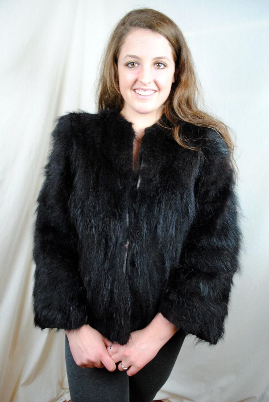 Black Bear Fur Coat