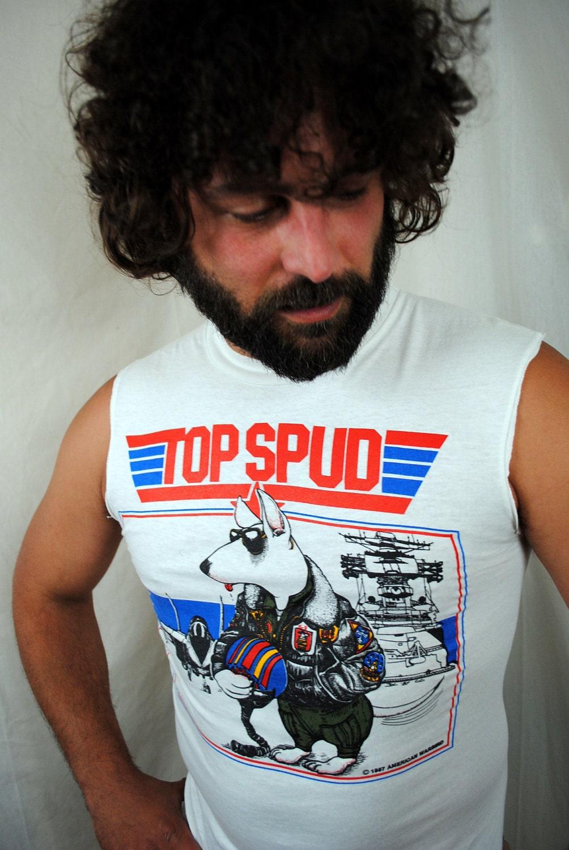 Vintage 1986 Bud Light Spuds Mackenzie Party Animal Tank Top