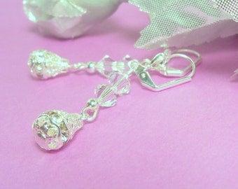 Earrings,  Dangle Earrings, Sparkly, Wedding, Bridesmaid Earrings, Bridal Earrings, Wedding Earrings, Bridal Accessories