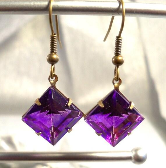 Earrings, Purple, Violet, Heliotrope, Purple Earrings, Dangle Earrings, Violet Earrings, Heliotrope Earrings