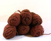 Brown Yarn - Six Skeins