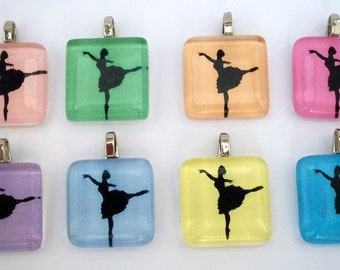 FREE CHAIN Bright and Lovely Ballerinas.  This listing is for ONE pendant