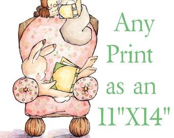 YOU CHOOSE- Pick an 11X14 Print. Nursery Art Home Decor