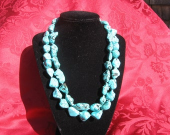 Blue Turquoise Nugget Necklace from Eagle Eye Red Carpet Event