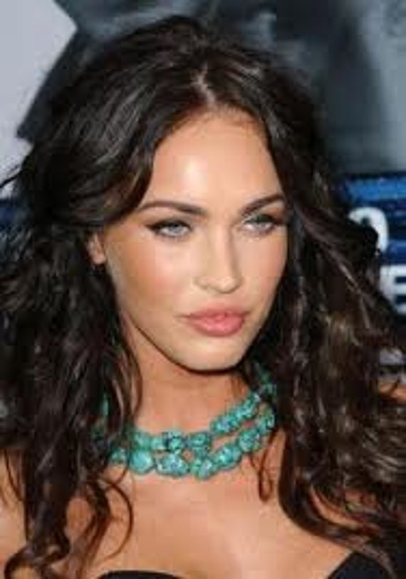 Megan Fox inspired Blue Turquoise Necklace from Eagle Eye Red Carpet Event