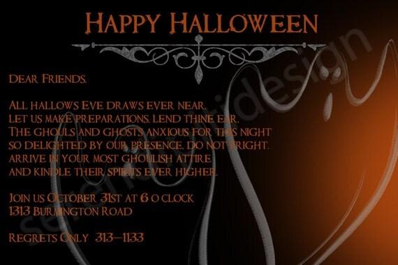 Halloween Poem Invite