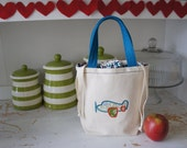 Eco Lunch canvas bag - drawstring - Ready to ship