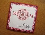 Mother's Day, MOM, Square, Polka Dot Burst, Card