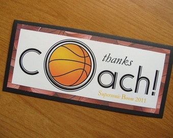Basketball Card/Personalized Coach Card