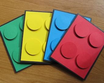 Realistic Building Blocks Birthday Invitation/Colorful Party Invitation/Children's Birthday Invitation/Lego