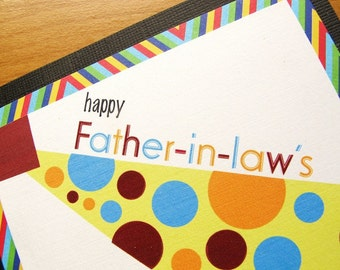 Father's Day, Father-In-Law, Polka Dot Tie, Square, Fun Card