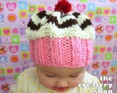 Baby Cupcake Swirl Hat Knitting Pattern