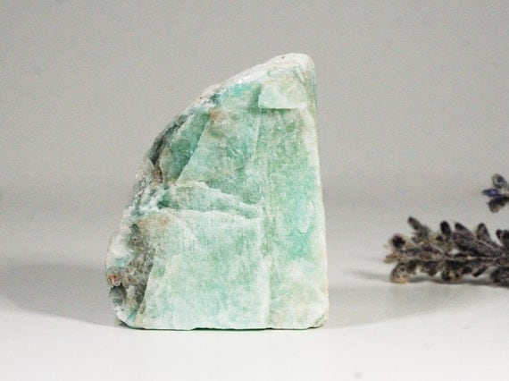 Amazonite Gemstone, Raw, Lapidary Cabbing Rough, Chunk Virgo Birthstone Brazilian Hand Chiseled Rough Stone  Inv. 10