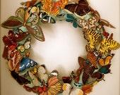 Butterfly, Butterfly Carnival Wreath