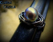 The Coveted Rare Black Pearl Ring Choose Your Size