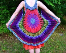 Mandala Spider Web Vest / Dress yarn and color your choice