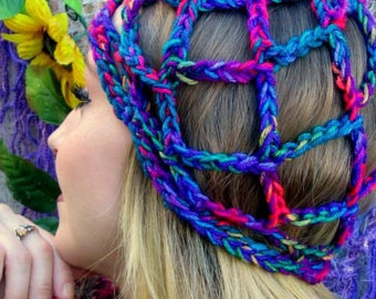 Multicolor Renaissance Medieval Hat