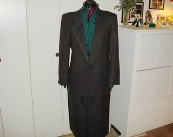Vintage suit by Austin Reed of Regent Street and silk blouse