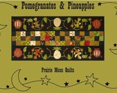 Pomegranates and Pineapples Quilted Table Runner Pattern