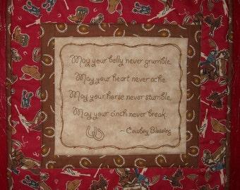 Cowboy Blessing Mini-Quilt Pattern, Print version