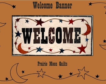 Quilted Welcome Banner Pattern