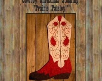 Cowboy Boot Christmas Stocking Pattern, 2010 PDF version