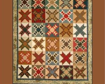 Scrappy Wild Geese Patchwork Quilt Pattern