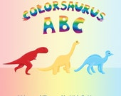 Reserved for DAWNBERRIES - Colorsaurus ABC- Children's Book - dinosaur book - Alphabet book - FREE SHIPPING US - SALE