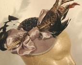 Grey felt fascinator- ornamental possibilities