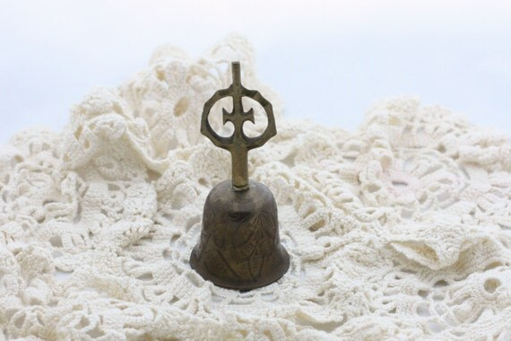 Vintage Cross Bells of Sarna Brass Bell from India