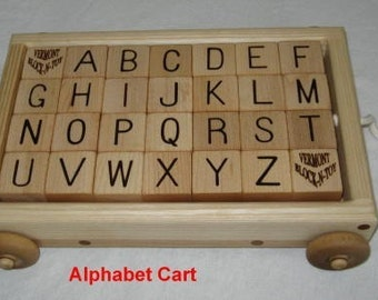 Pull Cart with 28 Spelling Blocks