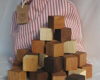 28 Mixed hardwood blocks with bag