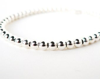 Sterling Silver 4mm Ball Bracelet - Weddings Bridal Bridesmaids Gifts