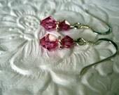 Bubble Gum Pink Crystal Earrings