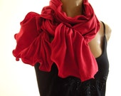 Simply Red.... Neck Rag with matching Trimming....cotton blend...Globetrotter..