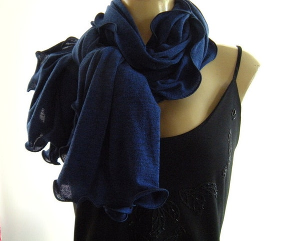 Very last One..Midnight Blue...Neck Rag..Gorgeous Color... speckled.. European Knit...Globetrotter..