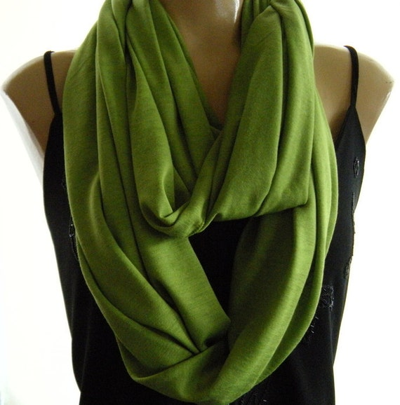 Last One..Grass Green... Nomad Cowl.....Infinity Scarf..Relaxed version