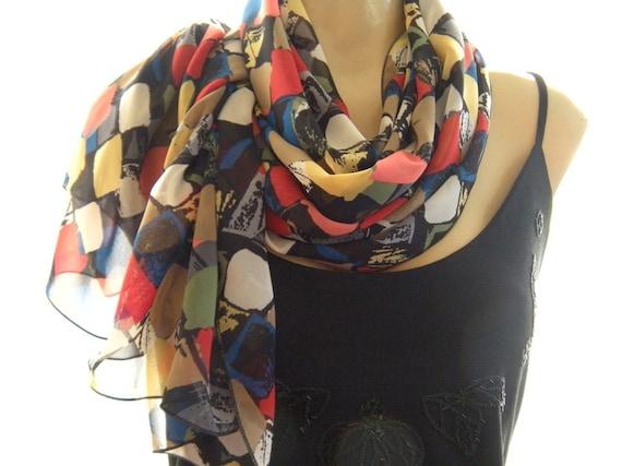 Last One....Mosaic...The perfect scarf....Parisian Neck Tissu...Beautiful