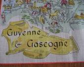 Vintage France Map Hankie