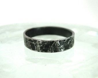 Black Iron Distressed Ring
